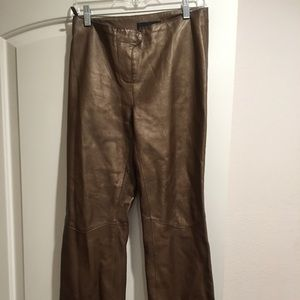 STRAIGHT-LEG  REAL LEATHER pant